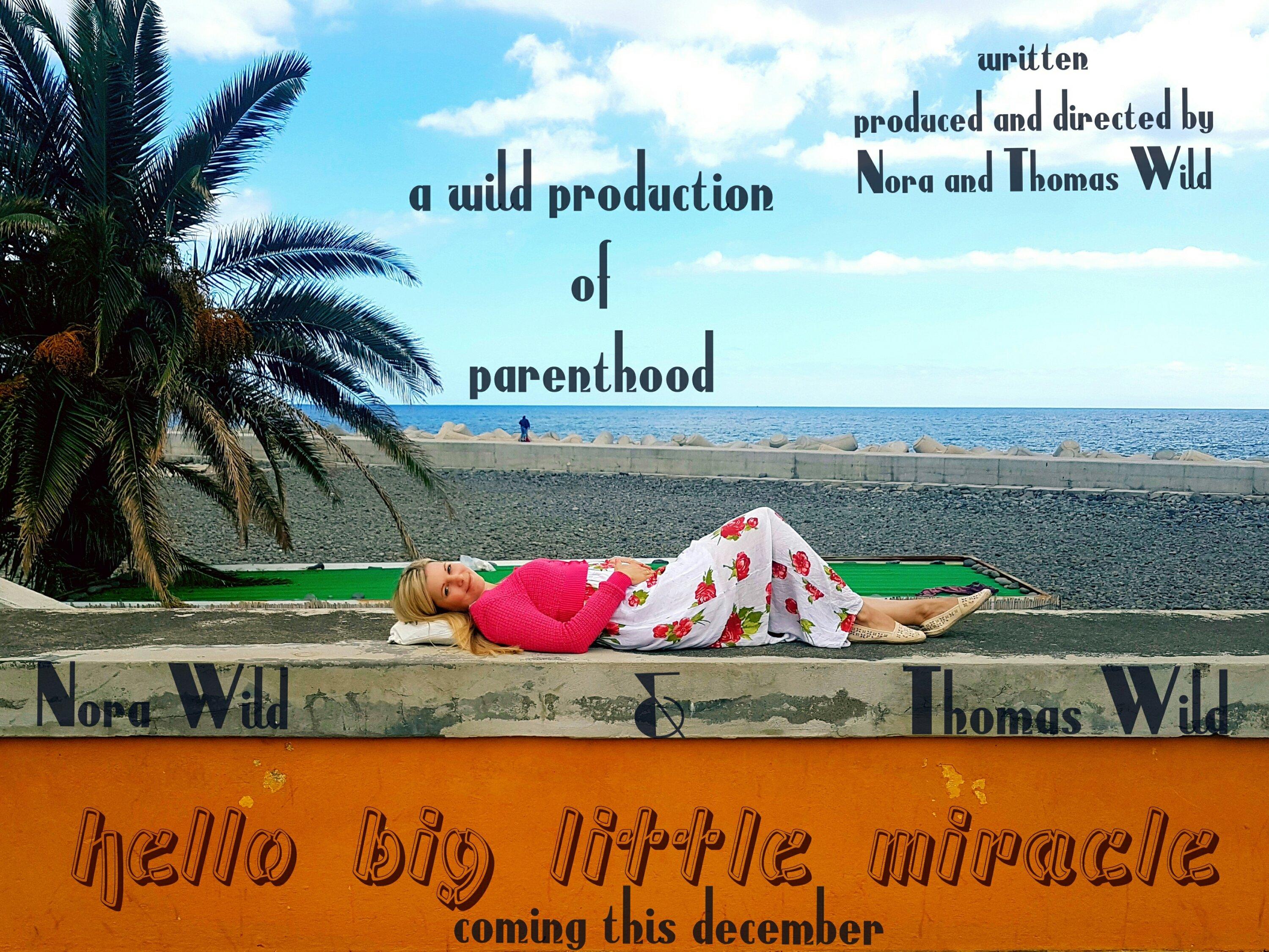 Schwangerschaftsverkündung mit Filmplakat