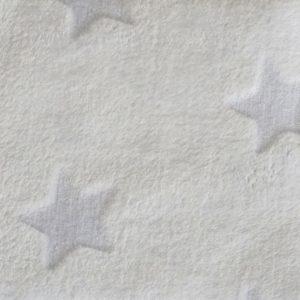 Stoff Wellnessfleece mit Sternen